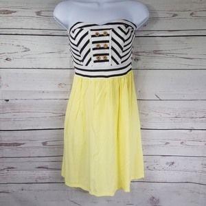 XHILARATION strapless striped mini dress